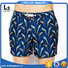 Dongguan factory design men swimming clothing print swim shorts