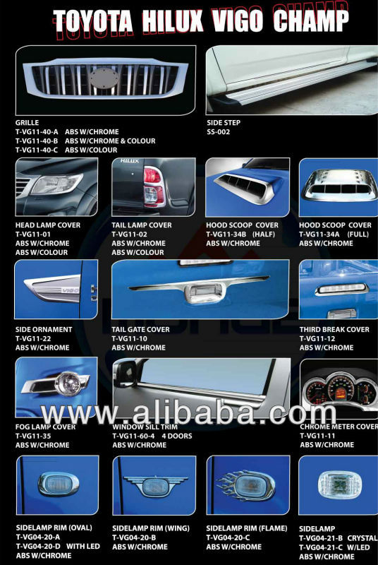 ABS Chrome Cover for toyota hilux vigo champ