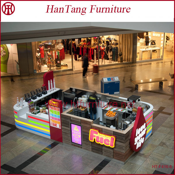 10x15 Feet Laminated Mall Frozen Yogurt Vending Kiosk