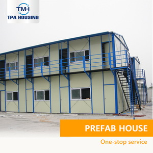 Cheap Two-Storey Prefabricated Structure Labor Camp Houses C Beam Prefab Light Steel Metal Structure House