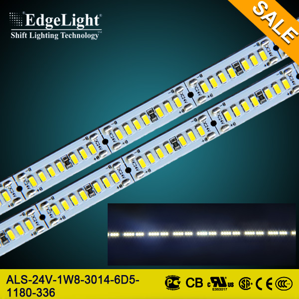 Edgelight high brightness rigid led strip with UL approved 3014SMD