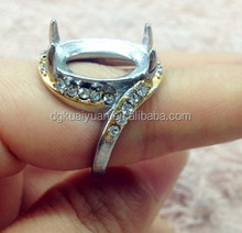 Ring setting removable stone 316L small size ladies titanium rings without gem stone