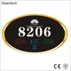 House Number Plate Wall Touch Door Bell for Hotel