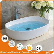 Popular cheap price new model bathroom oval wash hand ceramic vessel sink sizes