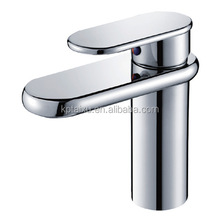 Ceramic cartridge sink faucets chrome plated faucets with brass body