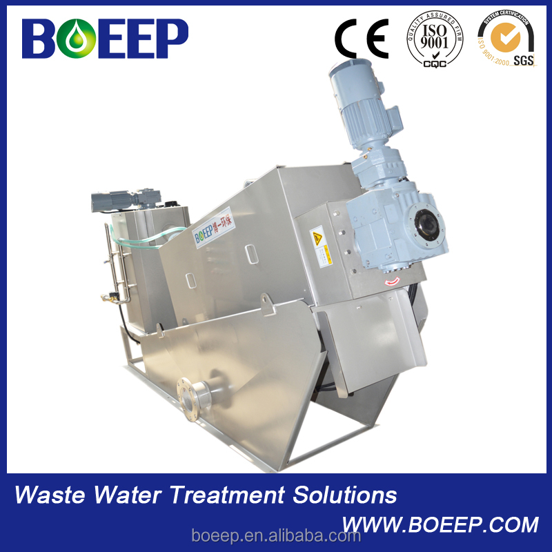Slaughter houses sewage treatment screw filter press machine