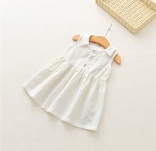 Girl lace cheongsam summer stripe cotton baby girl dress
