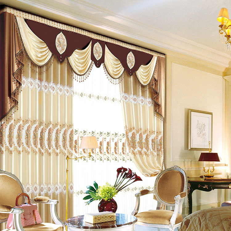 Mediterranean style blackout curtains manually for manufactured home