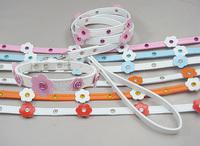 Pet supply wholesale Dog Crestal flower Collar leash set Pet Products PVC
