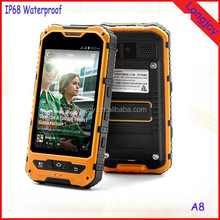Wholesale Quad Core Rugged IP68 Waterproof Phone Land Rover A8 Android 4.2 Dual Sim 3000mAh Battery