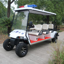 2017 8 Seater Police Patrol Electric Golf Cart, CE Approved, Offroad with Siren