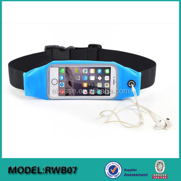 cell phone waterproof elastic running waist pack belt For iPhone 6 6S 6 Plus 7 7Plus & Android Smartphones