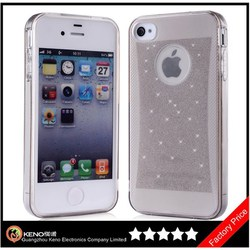 Keno 5 Pack Glitter Jelly Color Soft TPU GEL Protective Case for iPhone 4