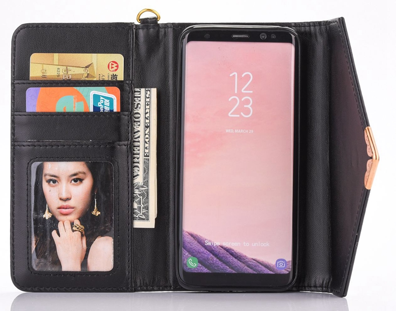 envelope PU case pouchfor Galaxy S8, Photo frame wallet case for Galaxy S8 Plus