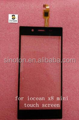 Original Black iocean x8 mini touch screen replacement touch panel Free Shipping