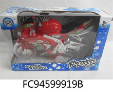 Electric Friction motorcycle plastic toys with light and music FC94599919B