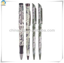Green Camouflage Matal Ball Pen With Clip