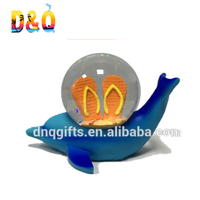 Polyresin Dolphin water ball waterglobe Dolphine of 45mm