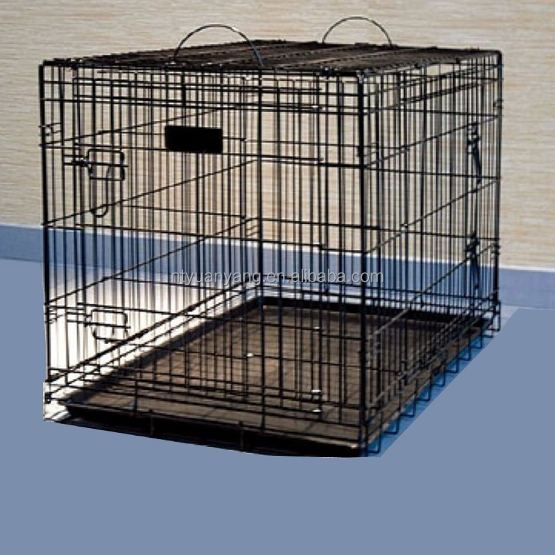 RED fold wire pet cage crate kennel dog house with removable metal tray