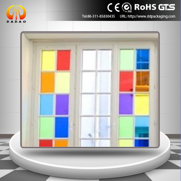 decorative transparent color PET film for sequin, vacuum mug and window