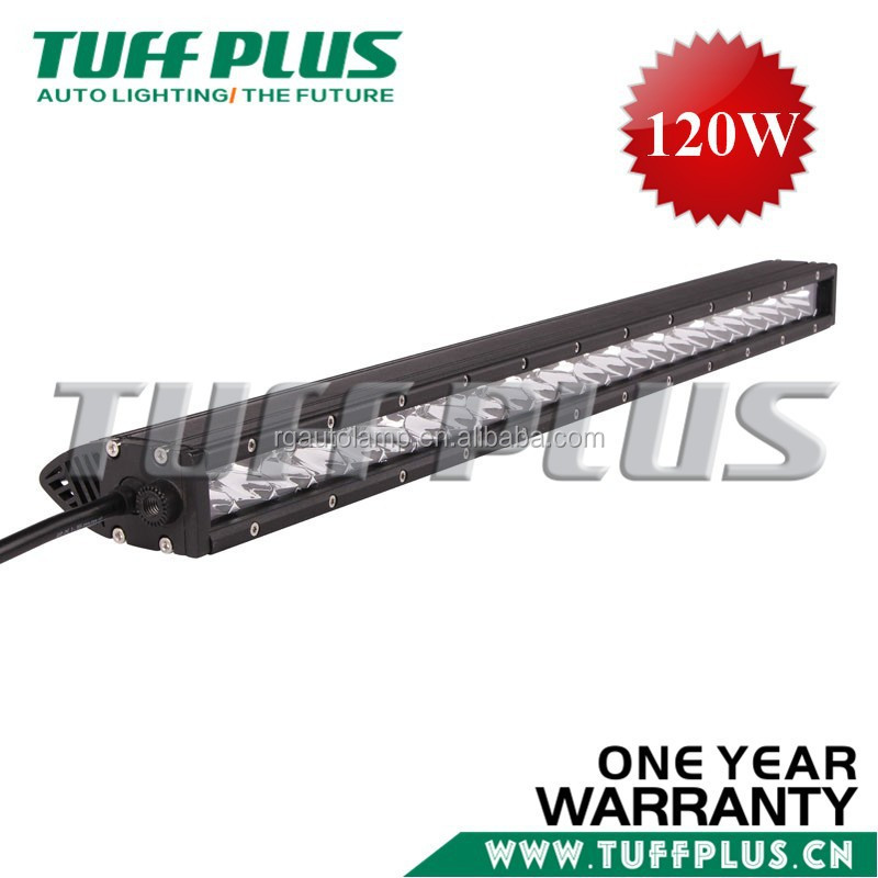 Flexible 25inch 120w single led light bar Spot Flood work driving Atv bar