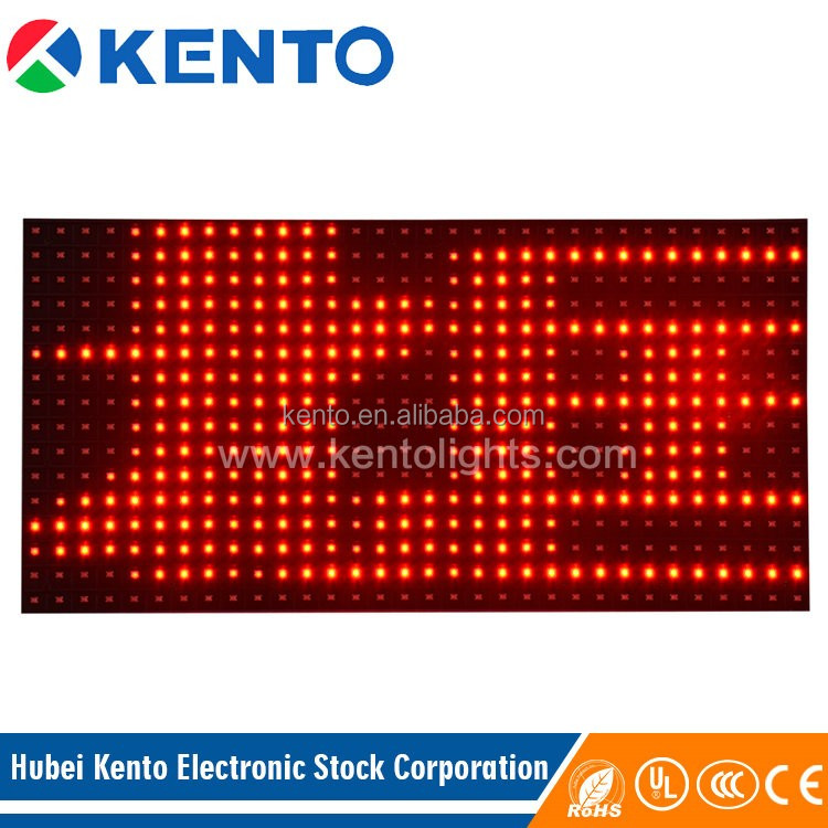 P10 red led message board 160x320mm outdoor
