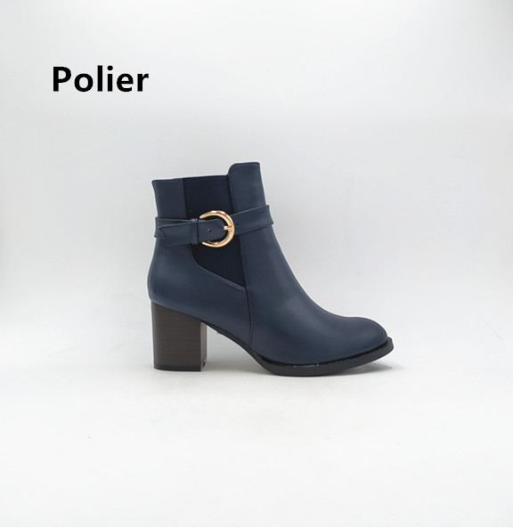 Polier 2018 guangzhou factory 6 inch women shoes Lady ankle <strong>boots</strong> with elastic