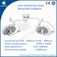 China BT-LED620 Cheap hospital double head led operation light, no shadow lamp cold light deep operation lamp