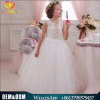 Kids frock design smock dress formal ball gown flowers heart back children wedding birthday evening party white long maxi dress