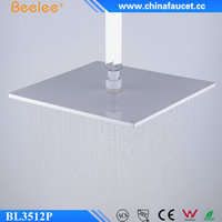 Beelee BL3512P LED Colors 12 Inches Painting White Top Shower Head Brass Rainfall Over-head Shower Head