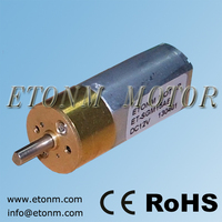 9V 500 rpm battery operated DC motor with gearbox for electronic door locks