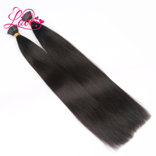 Qingdao Love Hair Wholesale Double Drawn I Tip Hair 1g/Strand Natural Color Silky Straight Pre-bonded Human Hair Extension