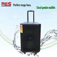 15inch rechargeable battery outdoor speaker computer bluetooth speaker volume control remote