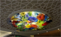 Art Large Blown Glass Chandelier Fixtures Ceiling Lamp Modern
