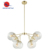Modern luxury design gold plated finished chandelier for living room