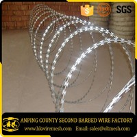 BTO 22 Galvanized Razor Barbed Wire