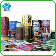 Hot Sales waterproof feature and self adhesive sticker type roll form label for jars and bottles