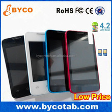 Multiple color touch screen Double Camera wifi android4.2 low end phone