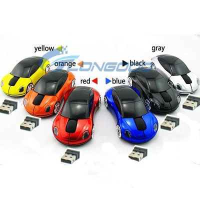 New 3D Car shape 1600dpi Wireless 2.4G USB Optical Mouse