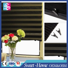 Graceful Office Curtain Types Temporary Paper Pleated Shades