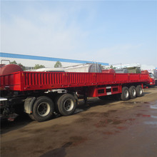 Side Wall Truck Trailer, 3 Axles Cargo Semi Trailer, Cargo Truck Trailer