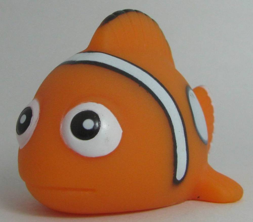 small plastic rubber clown fish toys
