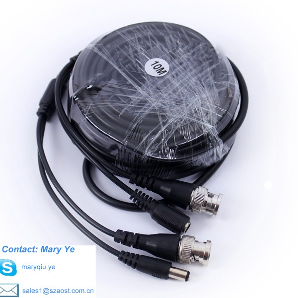 CCTV Accessories 10m CCTV coaxial Cable for Security System Camera Cable BNC Power