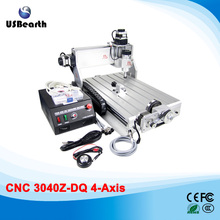 Russia no tax CNC 3040Z-DQ 4 axis with Ball Screw Upgrade CNC3040T CNC Router machine For PCB/Wood