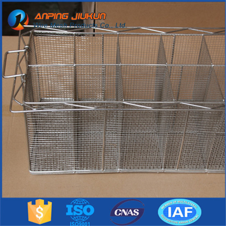Hot selling 304 stainless steel mesh tray custom made disinfection basket