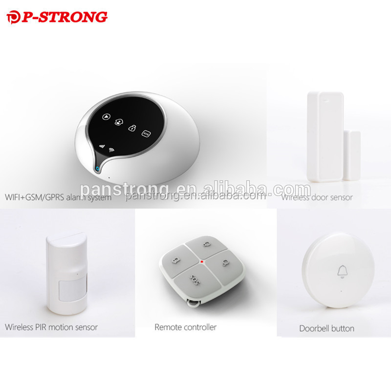 2017 GSM/3G Wifi GPRS Network SMS APP Infrared Beams Wireless Professional Burglar Alarm System