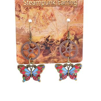 fashion steampunk jewelry wholesale butterfly drop earrings