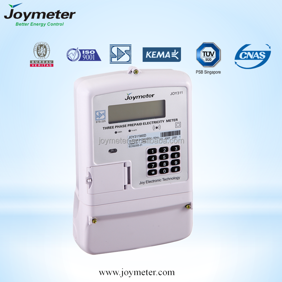 PLC prepay Three Phase electric Meter