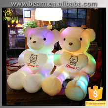 Promotion !plush led teddy bear toy/led teddy bear with love/led light bear toy