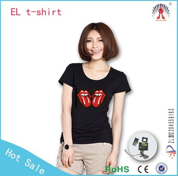 flashing el equalizer t shirt el panel for t shirt promotion el t shirt Garment Dyed